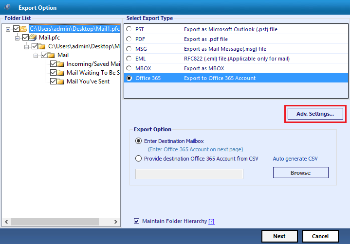 migrate aol to office 365 know how to forward mail folders