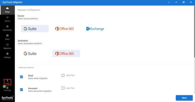 select g suite and office 365
