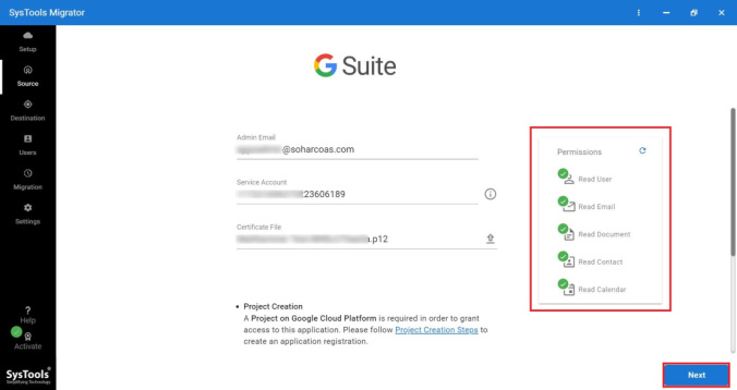 enter g suite id